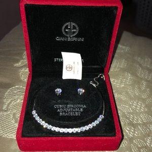Giani Bernini Earrings and Tennis bracelet
